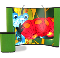 Shop for graphic pop up displays with fabric sides